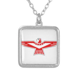 Thunderbird Square Pendant Necklace