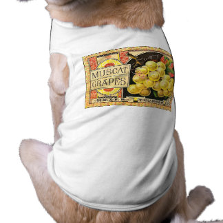 Thurber Muscat Grapes - Vintage Crate Label Pet Clothing