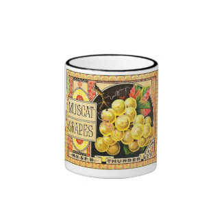 Thurber Muscat Grapes - Vintage Crate Label Coffee Mug