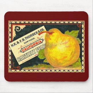 Thurber Pears Vintage Crate Label Mousepads