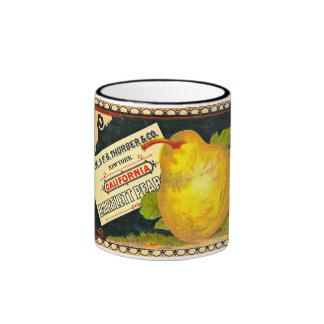 Thurber Pears Vintage Crate Label Mug
