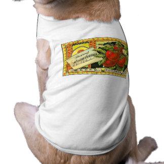 Thurber Strawberries Vintage Crate Label Pet Shirt