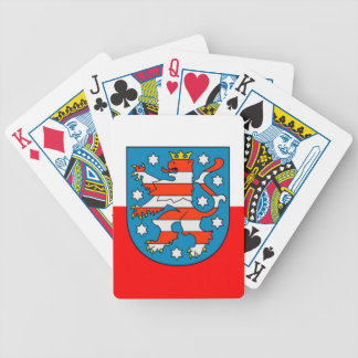 Thuringia national flag bicycle playing cards