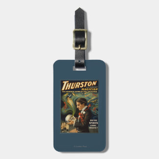 Thurston the Great Magician Holding Skull Magic Luggage Tag