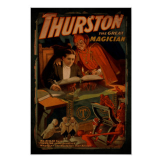 Thurston The Great Magician Vintage Magic Poster