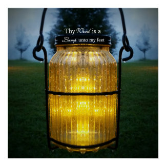 Thy word is a lamp to my feet scripture art poster