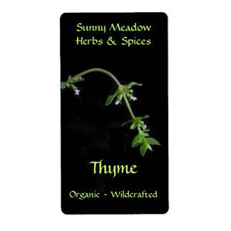 Thyme Herbal Labels