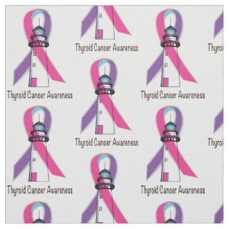 Thyroid Cancer Awareness Ribbon Fabric