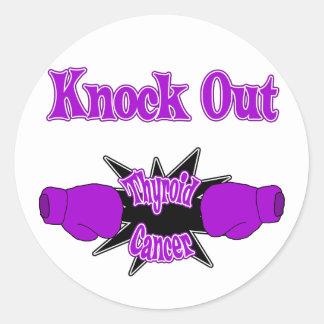 Thyroid Cancer Classic Round Sticker