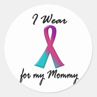 Thyroid Cancer I WEAR THYROID RIBBON 1 Mommy Classic Round Sticker