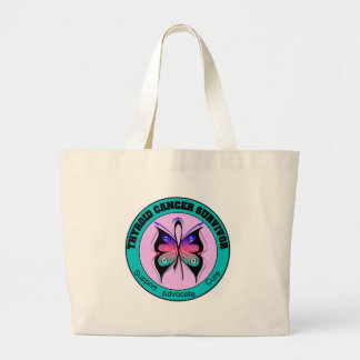 Thyroid Cancer Survivor Butterfly Jumbo Tote Bag