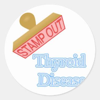 Thyroid Disease Classic Round Sticker