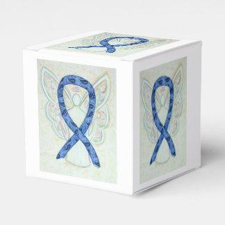 Thyroid Paisley Awareness Ribbon Angel Favor Box