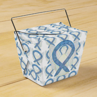 Thyroid Paisley Awareness Ribbon Angel Favor Boxes