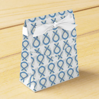 Thyroid Paisley Awareness Ribbon Party Favor Boxes