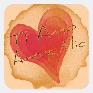 Ti Amo Amore Mio Square Sticker