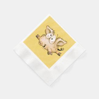 Ti Pig YELLOW NAPKINS Paper Napkin