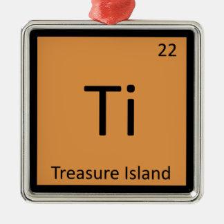Ti - Treasure Island Chemistry Periodic Table Christmas Tree Ornaments