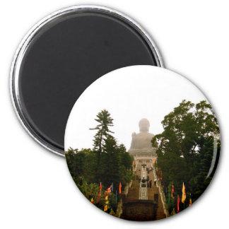 Tian Tan Buddha 6 Cm Round Magnet