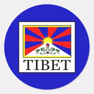 Tibet Classic Round Sticker