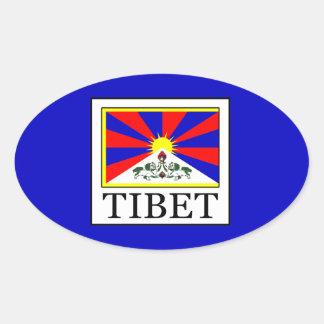 Tibet Oval Sticker