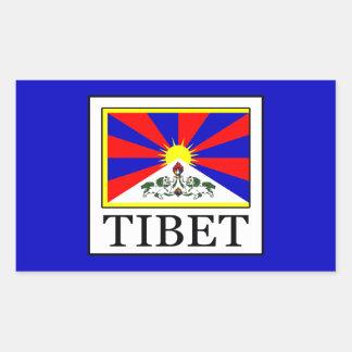 Tibet Rectangular Sticker