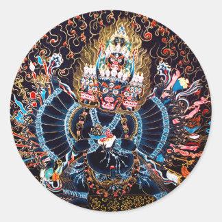 Tibetan Buddhist Art (Chemckok Heruka) Classic Round Sticker