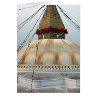 Tibetan Buddhist Stupa Card