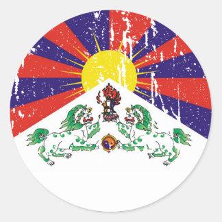 Tibetan Flag T-shirts and Apparel Classic Round Sticker