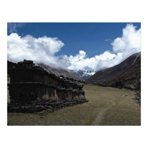 Tibetan prayer wall, Langtang Valley, Himalayas, N Custom Flyer