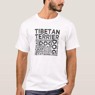 Tibetan Terrier Typography T-Shirt