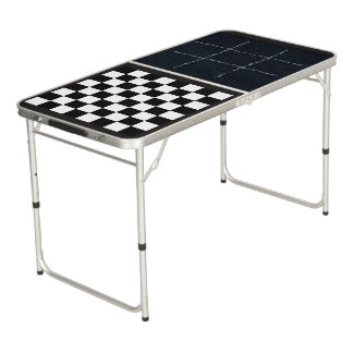 Tic Tac Toe and Checkers Game Board Table