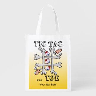 Tic Tac Toe Bones And Toes Reusable Grocery Bag