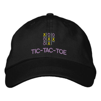 TIC-TAC-TOE Game Embroidered Hat