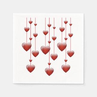Tic Toc Valentine's Day Napkins Paper Napkin