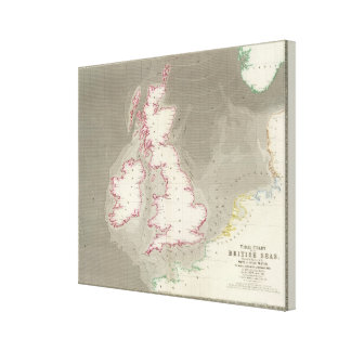 Tidal chart British Seas Canvas Print