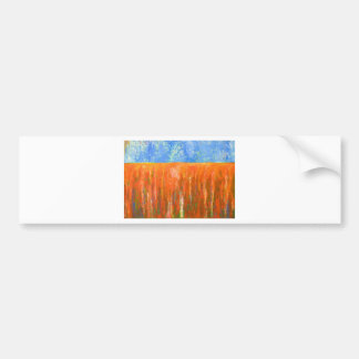 Tidal Red (abstract seascape) Bumper Sticker