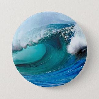 Tidal wave 7.5 cm round badge