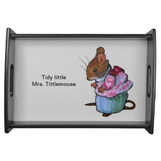 Tidy Little Mrs. Tittlemouse, After Beatrix Potter Service Tray