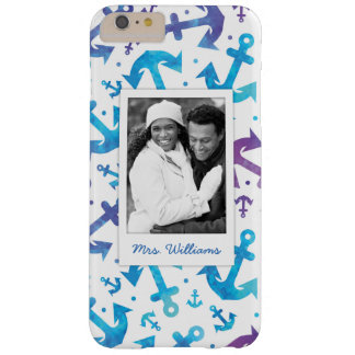 Tie Dye Anchor Pattern | Your Photo & Name Barely There iPhone 6 Plus Case