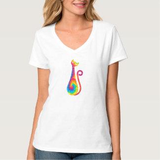 Tie Dye Fashion Cat T Shirts