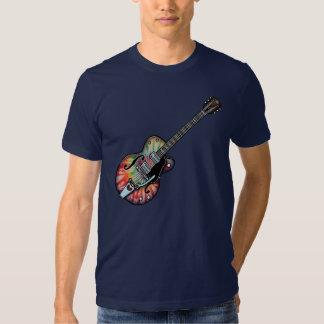 Tie Dye Guitar Tee Shirts