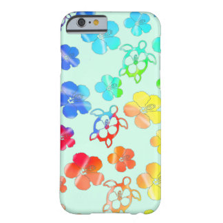 Tie Dye Honu And Hibiscus Barely There iPhone 6 Case