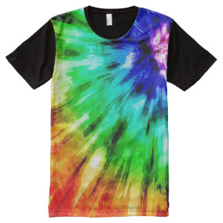 Tie Dye Meets Watercolor All-Over Print T-Shirt