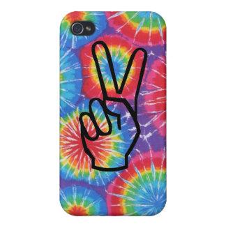 Tie Dye Peace Hand iPhone 4 Case