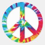 Tie-Dye Peace Stickers