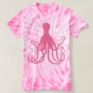 Tie-dye Pink Octopus. T-Shirt