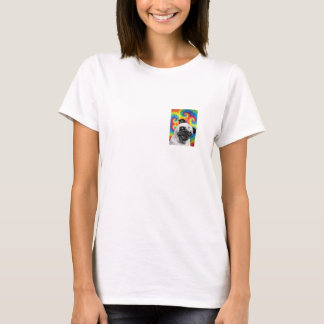 Tie Dye Pug Pocket Tee! T-Shirt