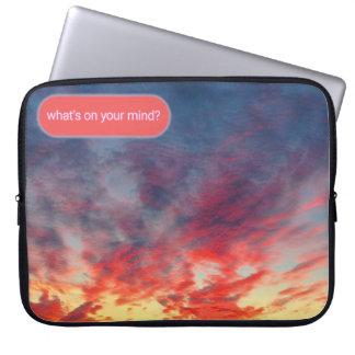 Tie-Dye Seattle Sunset Chat Laptop Sleeve