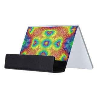 Tie Dye Sky Colorful Desk Business Card Holder